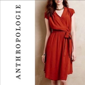 🎉HP NWT Anthropologie Burnt Orange Dress